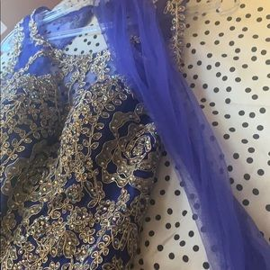 a royal blue special occasion dress